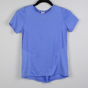 Periwinkle Blue Workout Top Short Sleeve Tee